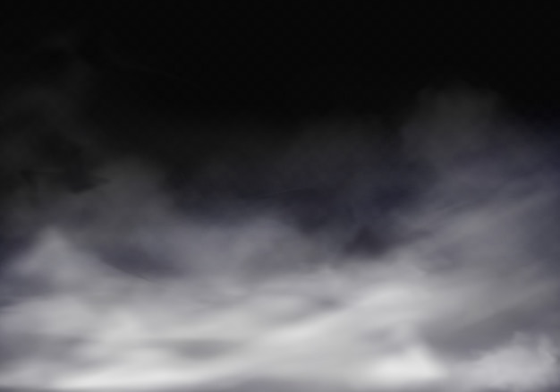 3d realistic illustration of fog, grey mist or cigarette smoke. Free Vector