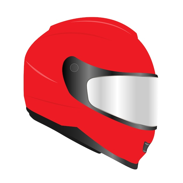 3d realistic motor racing helmets with glass visor Premium Vector