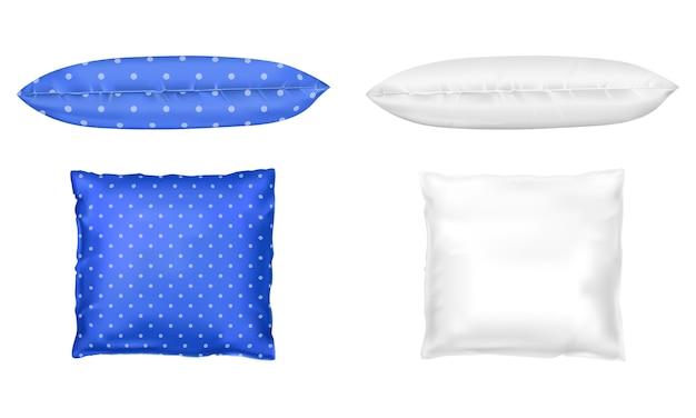 3d реалистичные подушки. шаблон, макет Бесплатные векторы