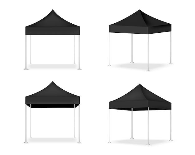 3d現実的なテントの表示popブース Premiumベクター