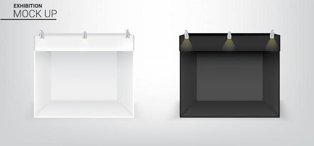 3d realistic tent display pop booth Premium Vector