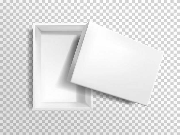 3d realistic white empty box Free Vector