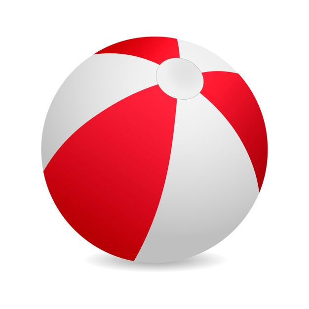 3d red beach ball vector illustration vector premium download rh freepik com mac beach ball vector beach ball flat vector