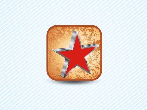 3d Red Star Symbol Vector Free Download