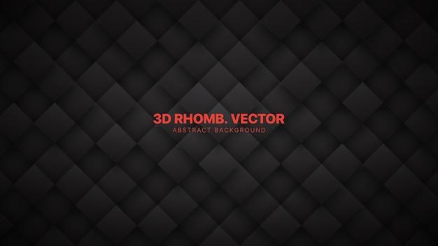3d ромб блокирует сетку технологический минималистичный темно-серый Premium векторы