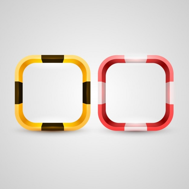 3d rounded squares frames Vector | Free Download