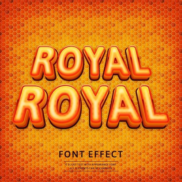 3d royal logo game tittle text effect Premium Vector
