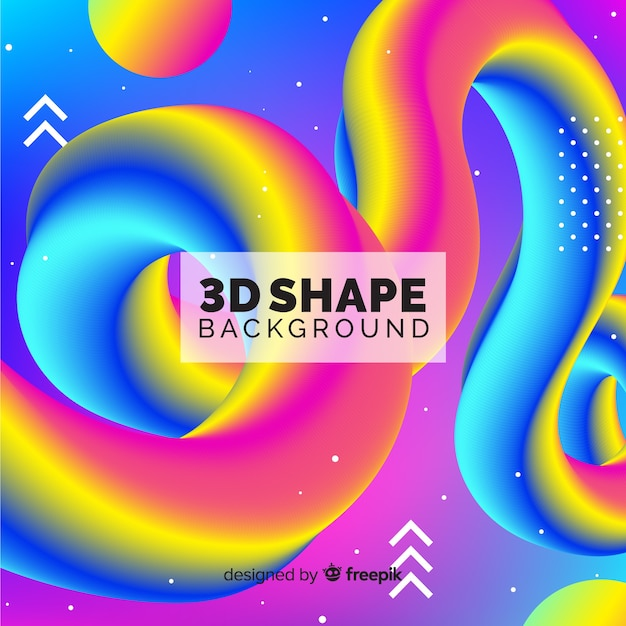 3d shape background Free Vector