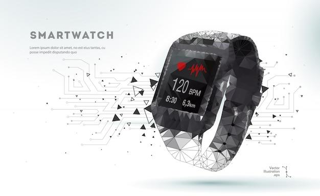 3d sm watch Premium Vector