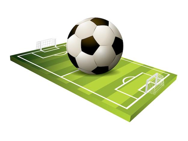 3d soccer field vector Vector  1519375f0aca6