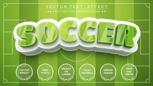 Текстовый эффект 3d футбол Premium векторы
