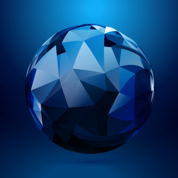 3d Sphere Made With Geometrical Shapes