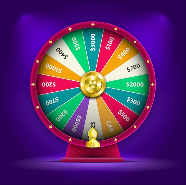 3d spinning fortune wheel Premium Vector