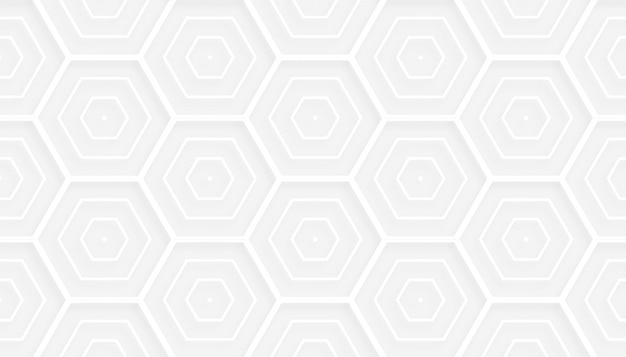 3d style hexagonal white pattern background design Free Vector