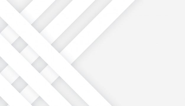 회색 배경 디자인에 3d 스타일 화이트 라인 무료 벡터