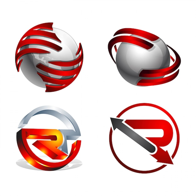3d swoosh letter r 3d circle round logo design element vector 3d swoosh letter r 3d circle round logo design element premium vector thecheapjerseys Image collections