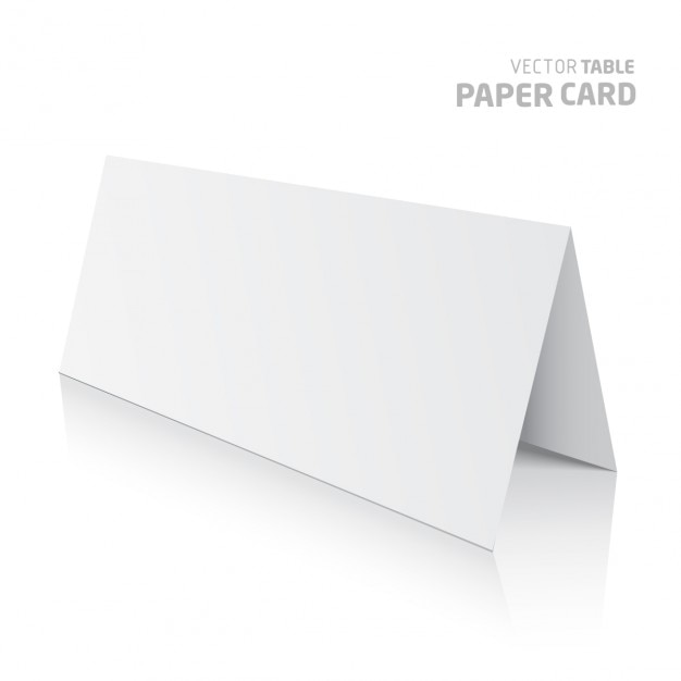 3d table paper card isolated on a grey background vector realistic Free Vector