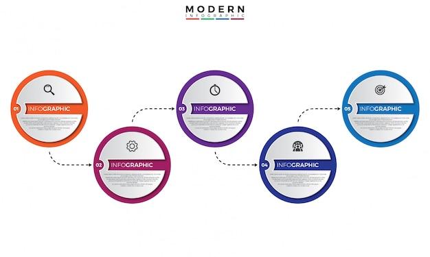 3d timeline infographic template Premium Vector
