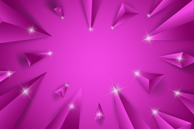 3d triangle purple concept background Free Vector