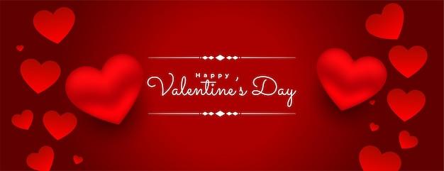 3d день святого валентина красные сердца фон Бесплатные векторы