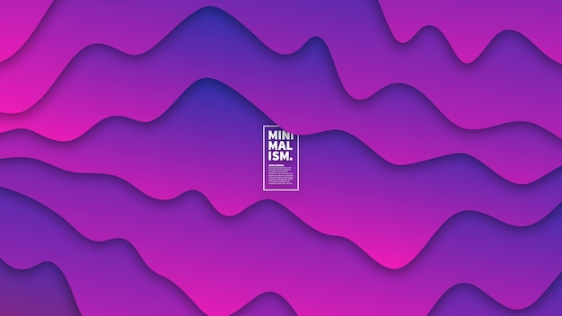 3d vector abstract smooth liquid curved lines background Premium Vector