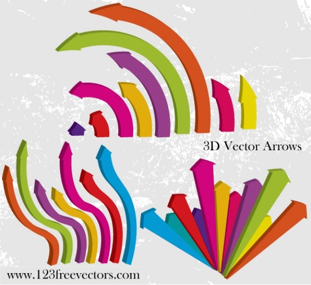 3d vector arrows vector free download rh freepik com 3d arrow vector free 3d vector arrow