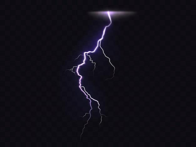 3d vector realistic illustration of lightning Premium Vector