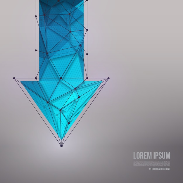 3d vector technology background Premium Vector