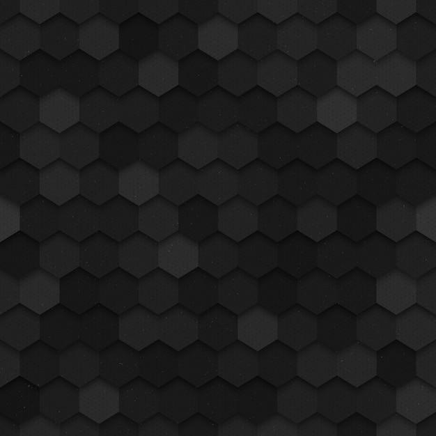 3d vector technology hexagonal seamless pattern Premium Vector