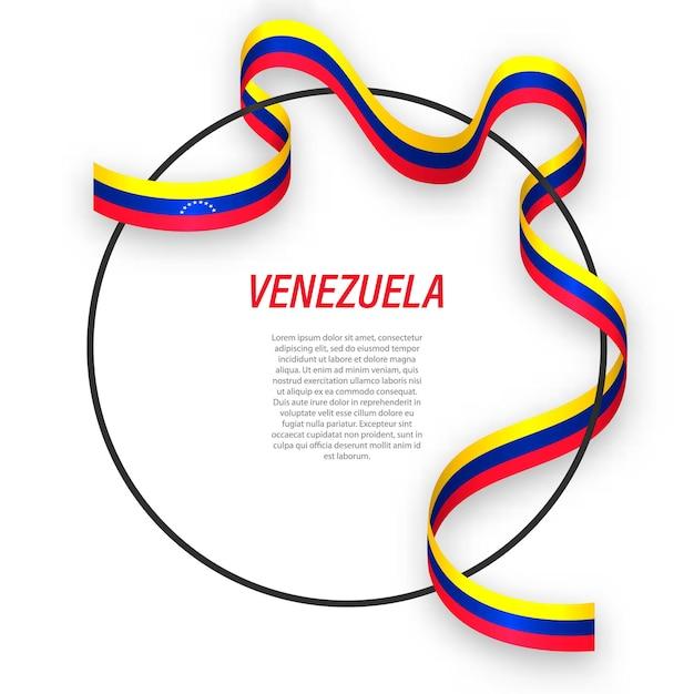 3d венесуэла с национальным флагом. Premium векторы