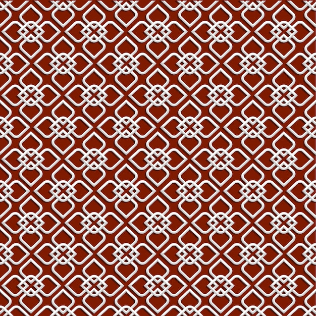 3d white pattern in islamic style Premium Vector