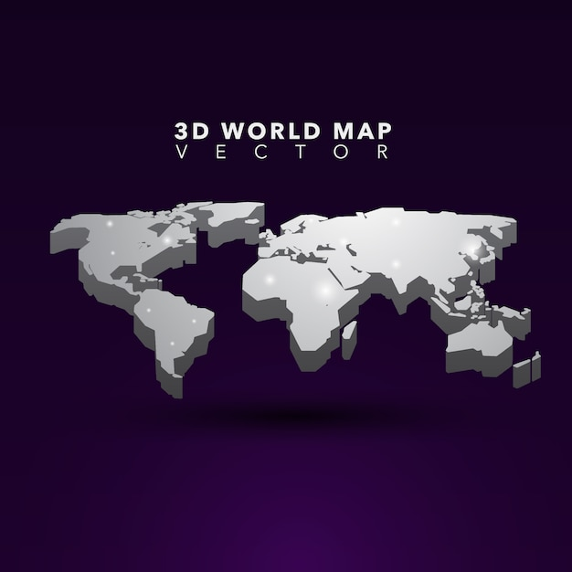 3d world map vector premium download 3d world map premium vector gumiabroncs Image collections