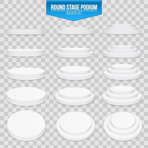 3dラウンドステージ表彰台 Premiumベクター