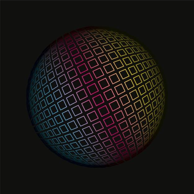 Цветные сетки сферическая 3d фоновый узор Premium векторы