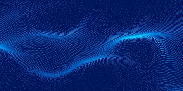 青3d粒子の背景のデザイン 無料ベクター