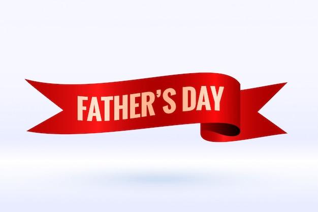 День отца фон в 3d стиле ленты дизайн Бесплатные векторы