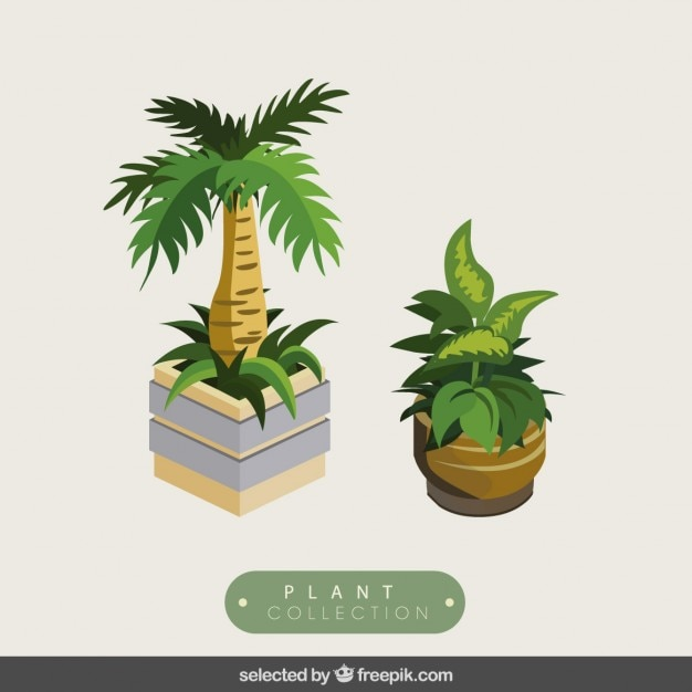 3d植物はパック 無料ベクター