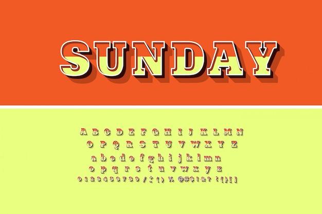 Яркие 3d буквы алфавита, цифры и символы Premium векторы