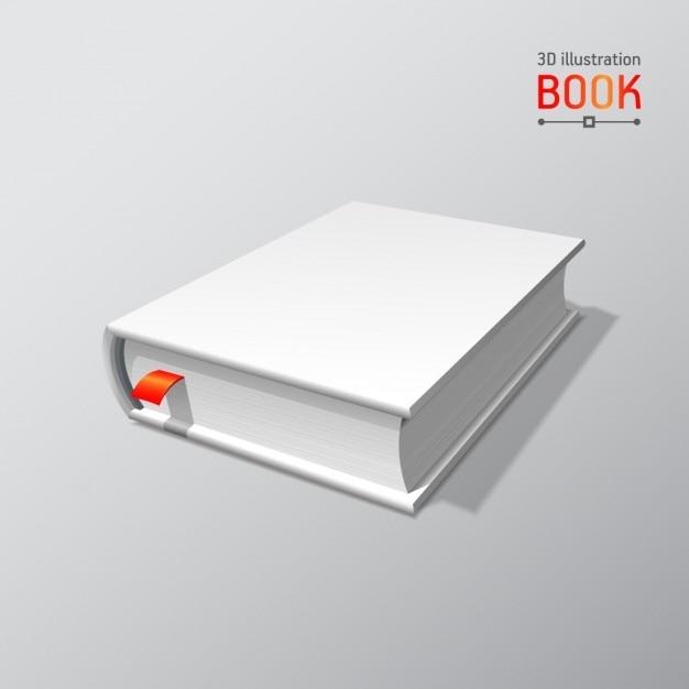 Пустая книга макет с тенью изолированных 3d векторные иллюстрации Бесплатные векторы