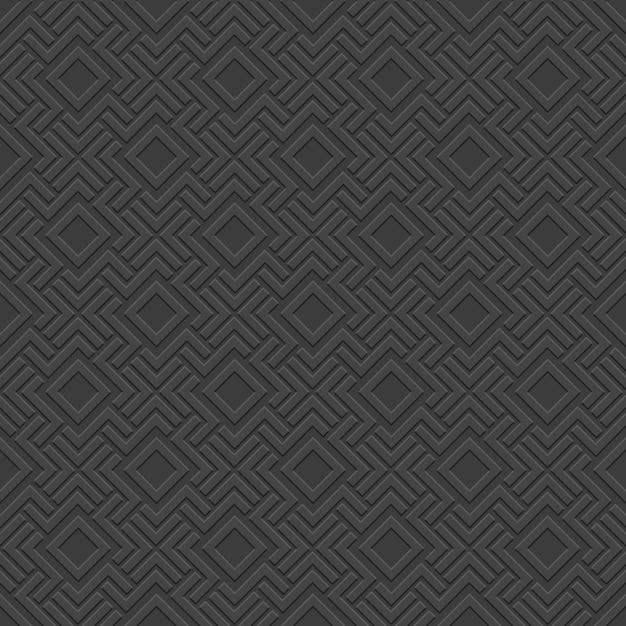 Черный 3d бесшовная текстура - кельтский стиль Premium векторы
