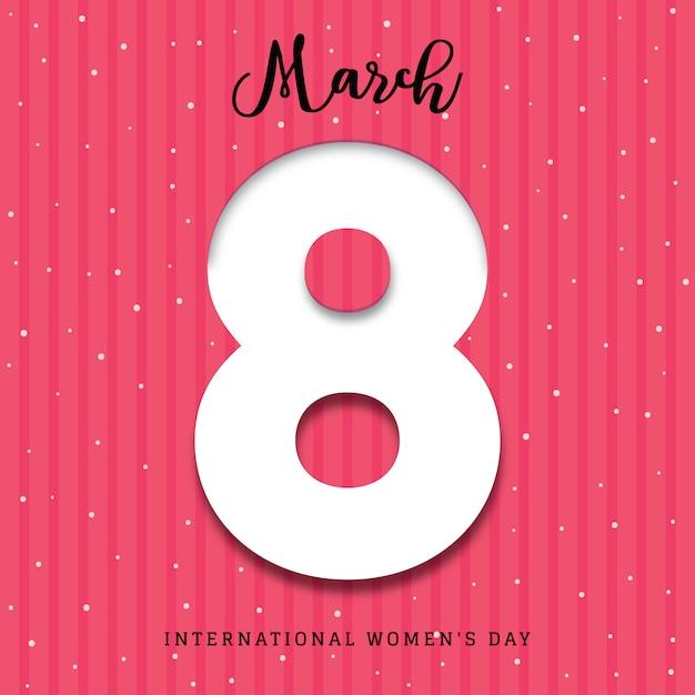 国際女性の日3dポスターの背景 無料ベクター
