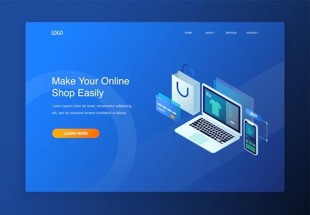 電子商取引、オンラインショッピング、デジタルマーケティングのための現代3dアイソメイラストイラスト概念 Premiumベクター