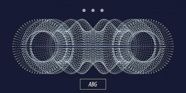 3dパーティクル抽象オブジェクト Premiumベクター