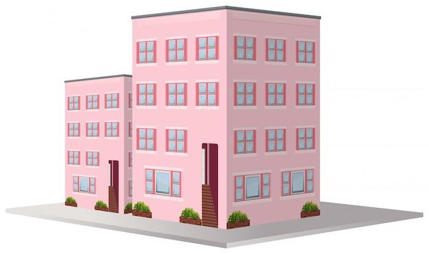 3d дизайн для двух жилых домов Бесплатные векторы