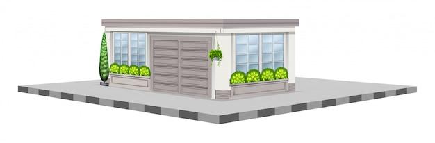 3d дизайн для белого магазина Бесплатные векторы