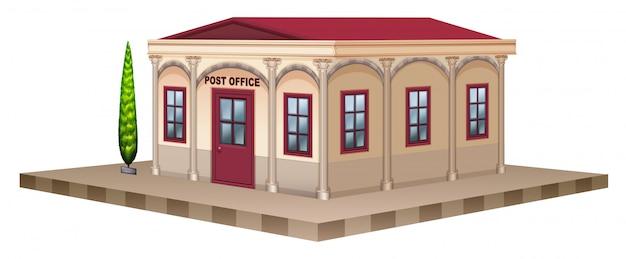 Почтовое отделение в 3d дизайне Бесплатные векторы