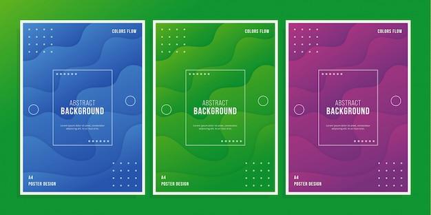 Красочный плакат 3d Premium векторы