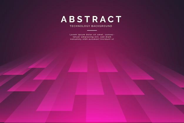 Абстрактный фон с 3d линиями Бесплатные векторы