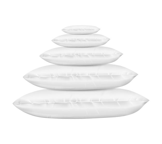3d реалистичные подушки для отдыха Бесплатные векторы