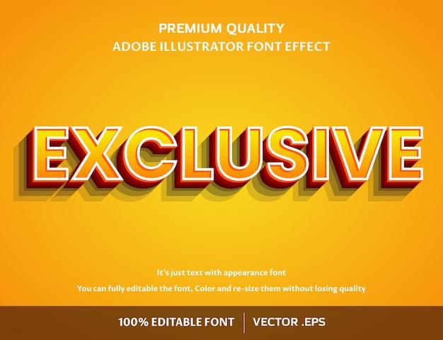 独自の3d編集可能な簡単なフォント効果 Premiumベクター